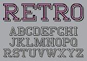 stylized retro font on the background