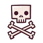 Stylized skull with crossbones