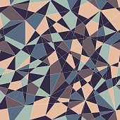 Stylized texture with blue and grey triangles.