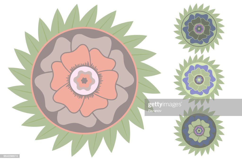 Stylized vector tropical flower.