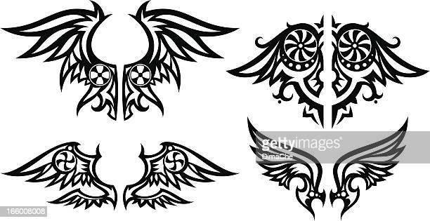 Conjunto de asas estilizadas