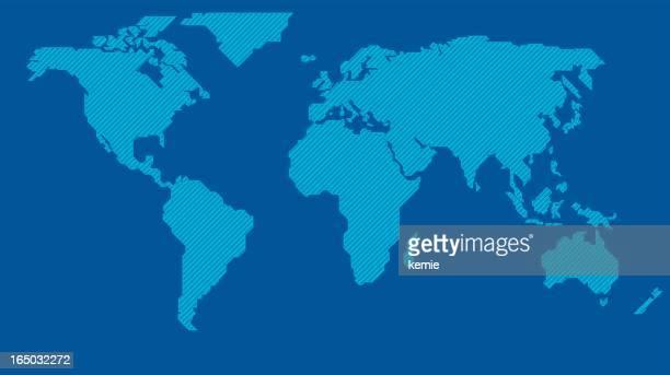 Stilisierte Weltkarte (Vektor