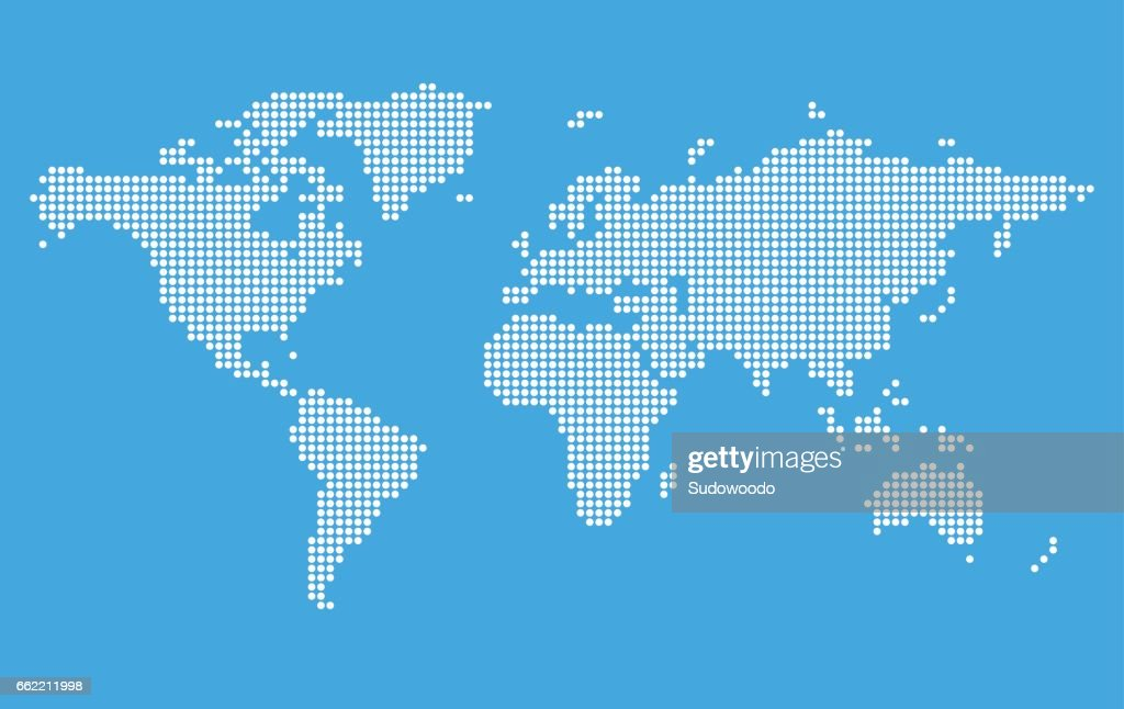 Stylized world map vector art getty images stylized world map vector art gumiabroncs Image collections