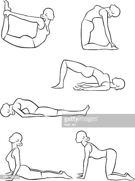 Stylized yoga illustrations - Bending