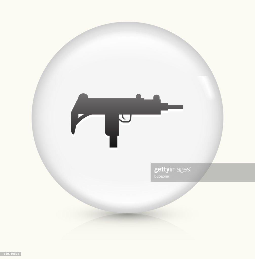Sub-Machine Gun icon on white round vector button : stock illustration