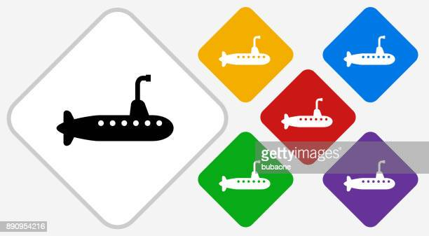 submarine color diamond vector icon - submarine stock illustrations