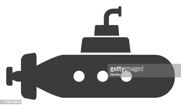 submarine icon - us navy stock illustrations, clip art, cartoons, & icons