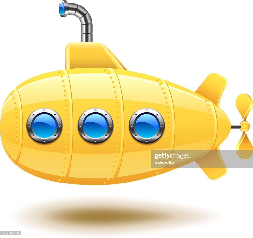 Submarine isolated on white vector