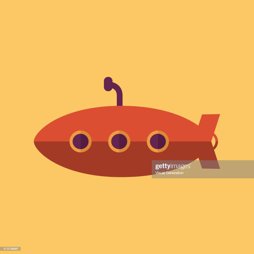 Submarine. Transportation Flat Icon