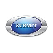 Submit Glossy Shiny Elliptical Vector Button