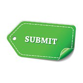 Submit Green Vector Icon Design