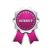 Submit Pink Vector Icon Design