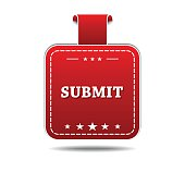 Submit Red Vector Icon Design
