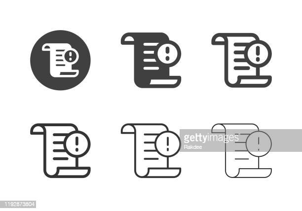 subpoena icons - multi series - attending stock illustrations