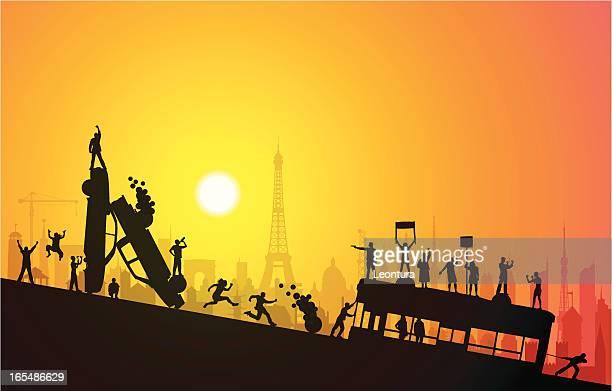 suburb - paris fury stock illustrations