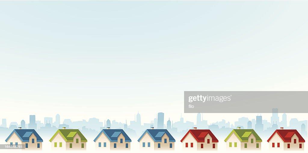 Suburban View : stock illustration