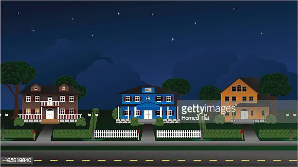 Suburbia - Houses at night
