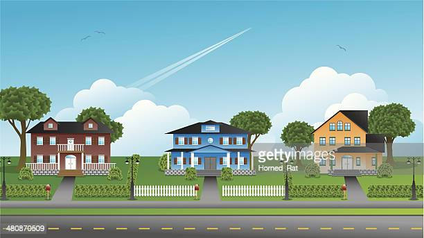Suburbia - Houses - Illustration