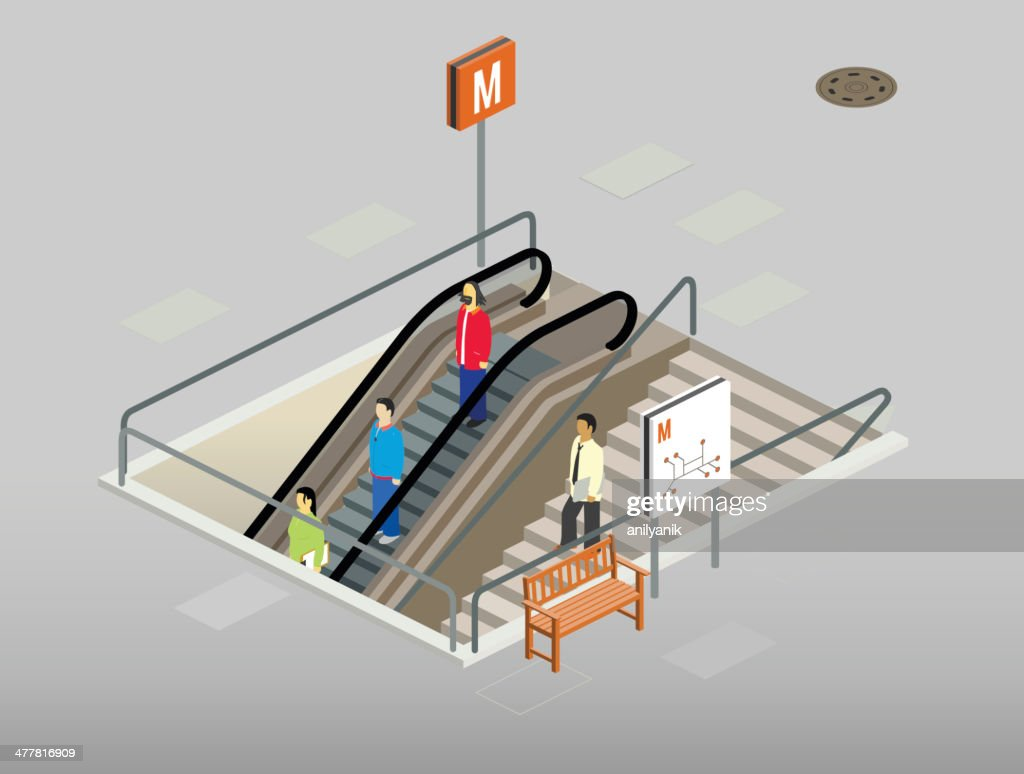 subway entrance : stock illustration