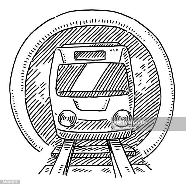 Metro openbaar vervoer symbool tekening