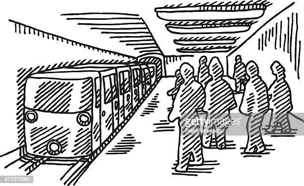 Subway Public Transportation Drawing