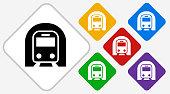 Subway Tunnel Color Diamond Vector Icon