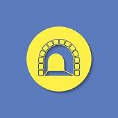subway tunnel entrance sign vector hmi dashboard flat icon