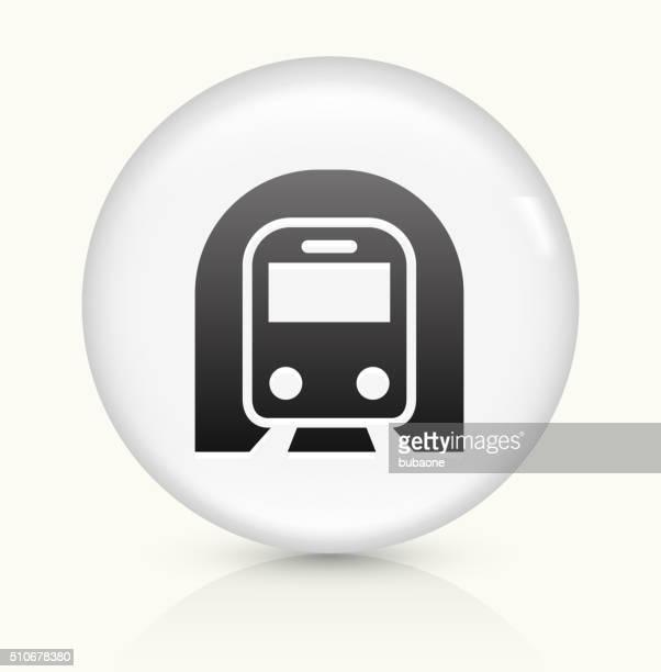 Subway Tunnel icon on white round vector button