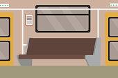 Subway underground train interior
