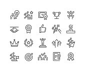 Success and Motivation Icons - Classic Line Series