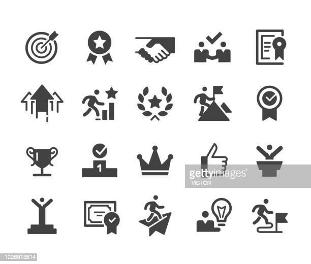 erfolgs- und motivationssymbole - classic series - lebensziel stock-grafiken, -clipart, -cartoons und -symbole