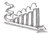 Success Business Bar Chart Arrow Drawing