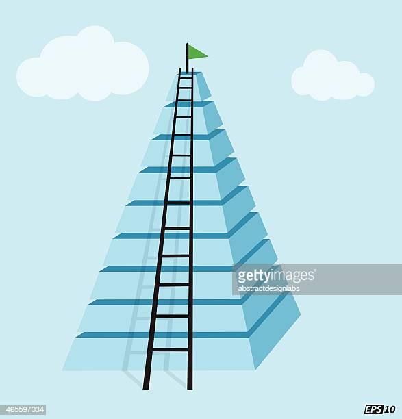 bildbanksillustrationer, clip art samt tecknat material och ikoner med success ladder - pyramidform