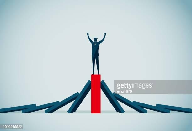 success - domino effect stock illustrations