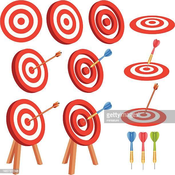 success - dart stock illustrations