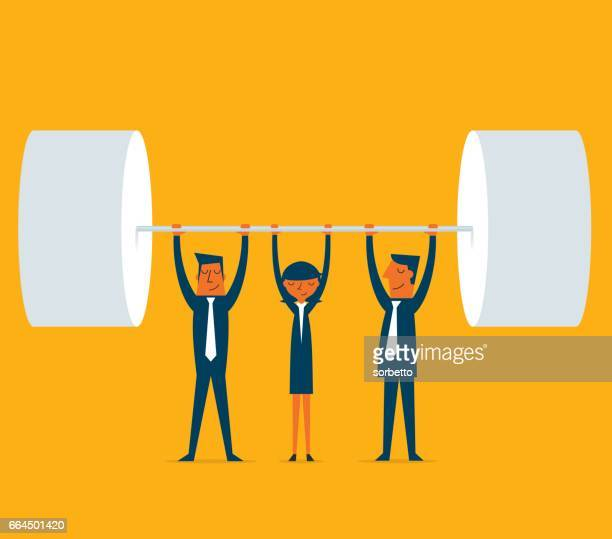 success - teamwork stock illustrations