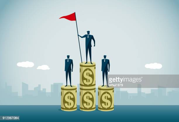 success - three people stock illustrations