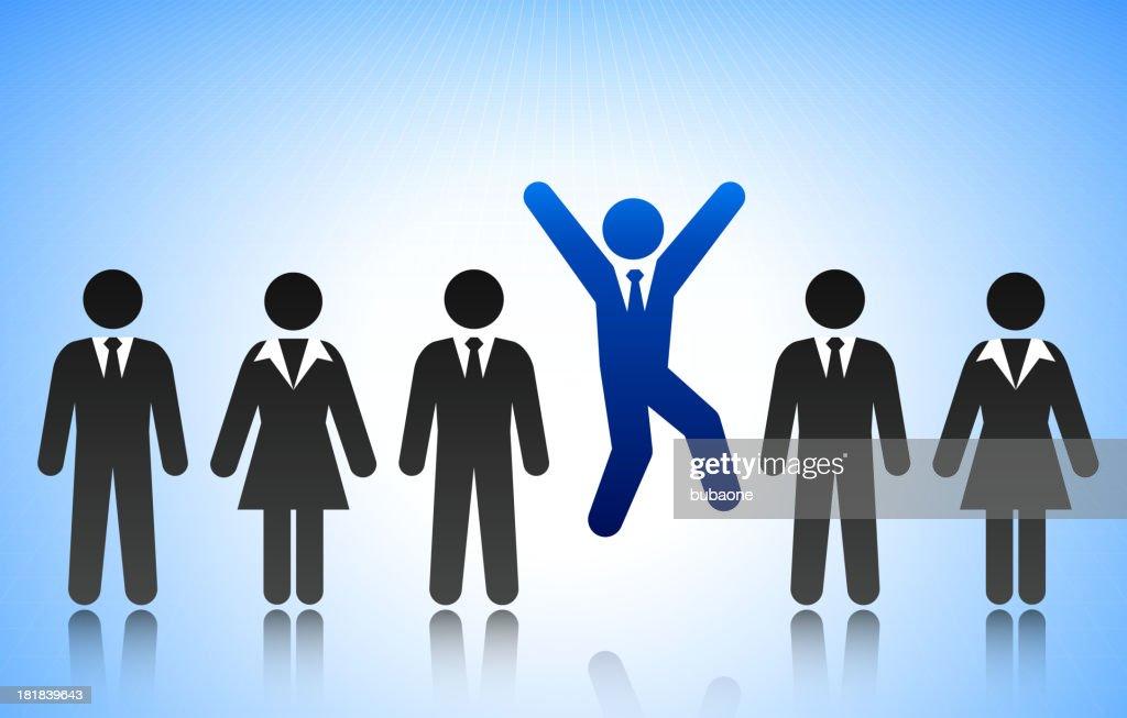 Successful Business Man Concept Stick Figure : stock illustration