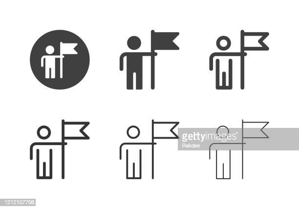 successful businessman icons - multi series - flagship store stock illustrations