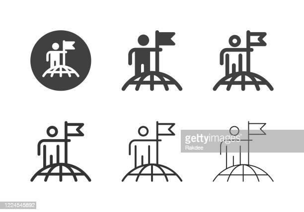 successful global business icons - multi series - high up stock illustrations