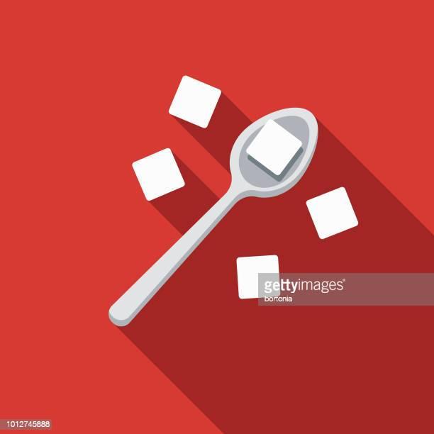 sugar design united kingdom icon - spoon stock illustrations