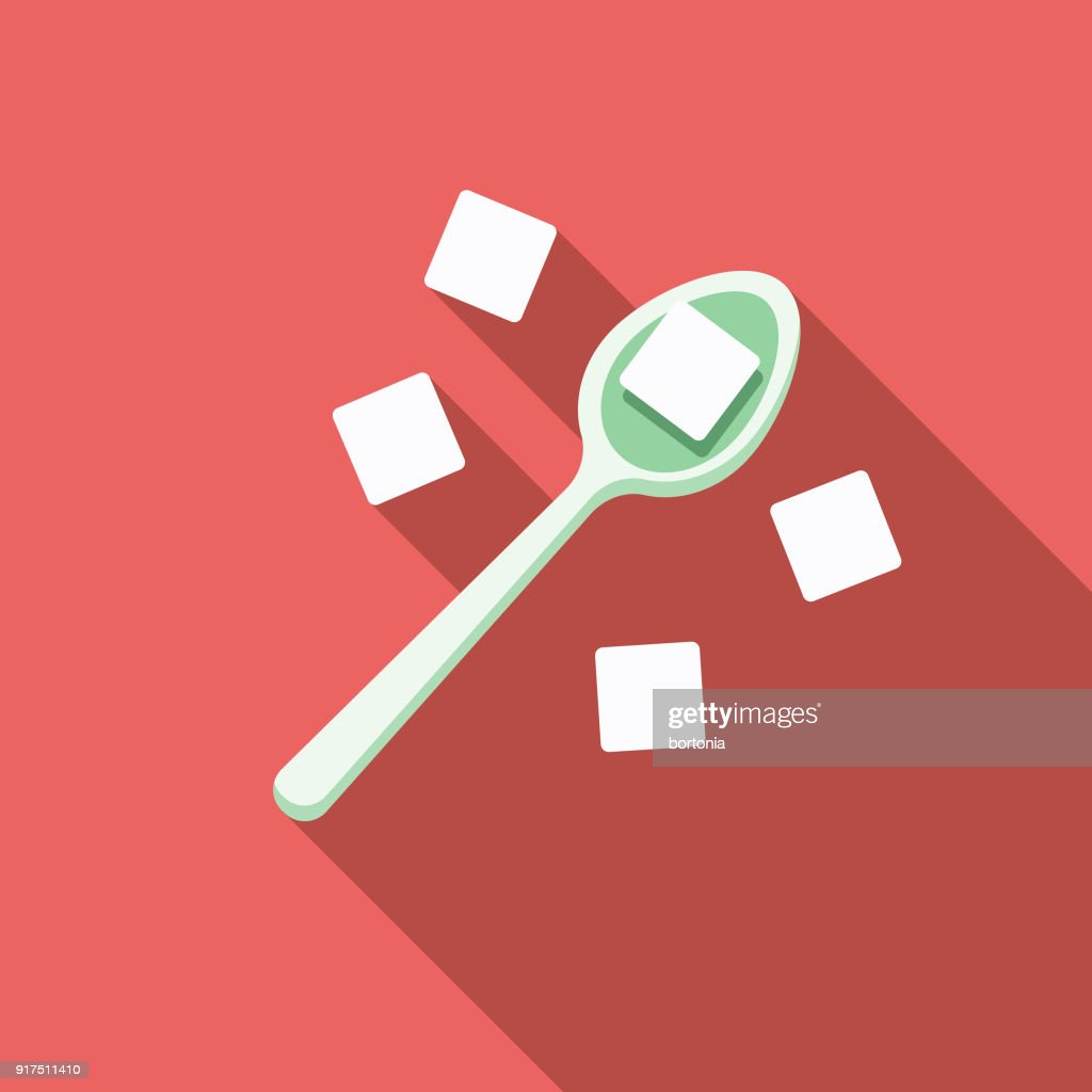 Sugar Flat Design Baking Icon : stock illustration