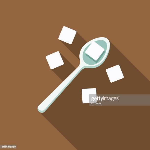 Sugar Flat Design Coffee & Tea Icon