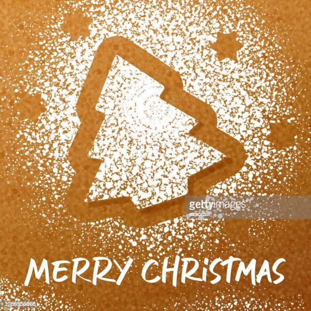 zuckerpulver weihnachtsbaum - farbpulver stock-grafiken, -clipart, -cartoons und -symbole