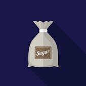 Sugar sack flat icon illustration