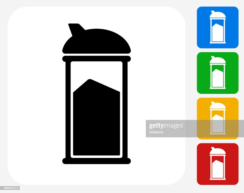Sugar Shaker Icon Flat Graphic Design : stock illustration