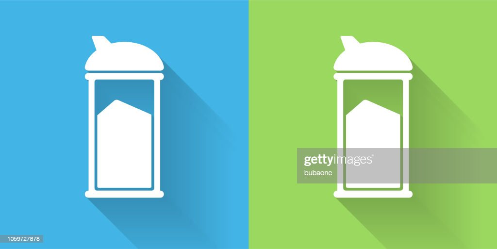 Sugar Shaker Icon with Long Shadow : stock illustration