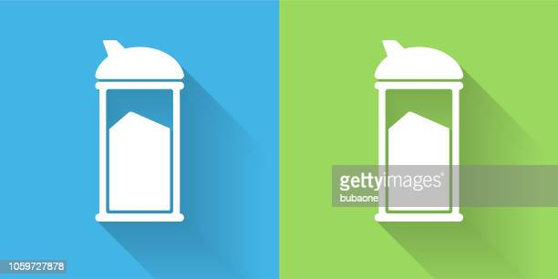 Sugar Shaker Icon with Long Shadow
