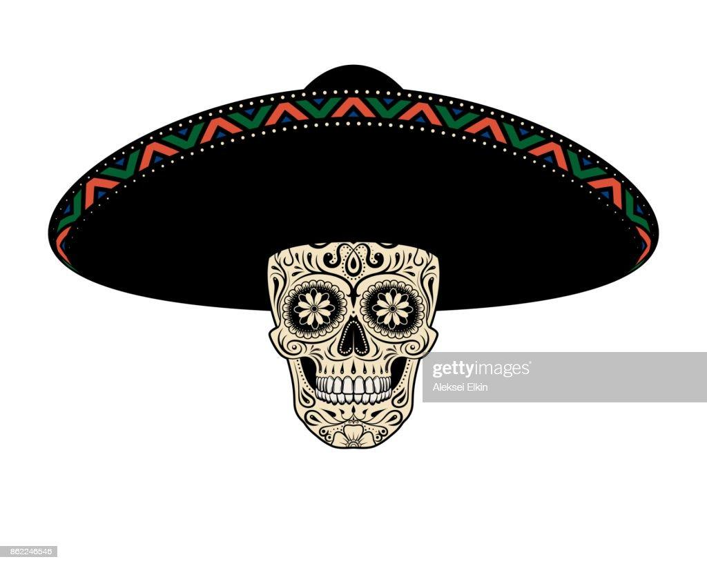 Sugar Skull in hat