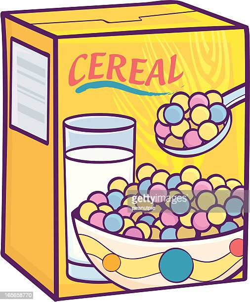 sugary cereal - breakfast cereal stock illustrations, clip art, cartoons, & icons